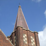 the spire of Leigh Road Baptist Church