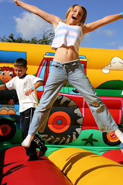 Photo of a bouncy castle - having fun