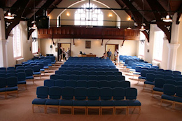 The new interior of Leigh Road Baptist Church 2007