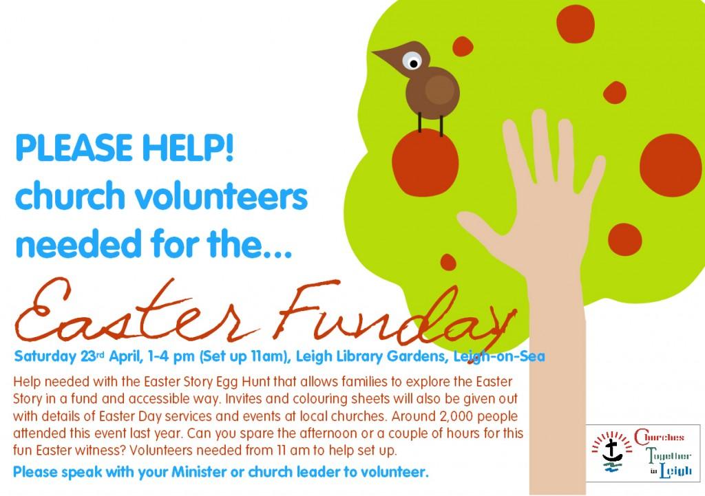 Easter Funday 2011 Volunteer Flyer