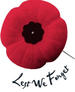 Lest we forget - Remembrance Day Poppy
