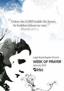 LRBC Week of Prayer 1st Jan to 7th Jan 2012 Poster