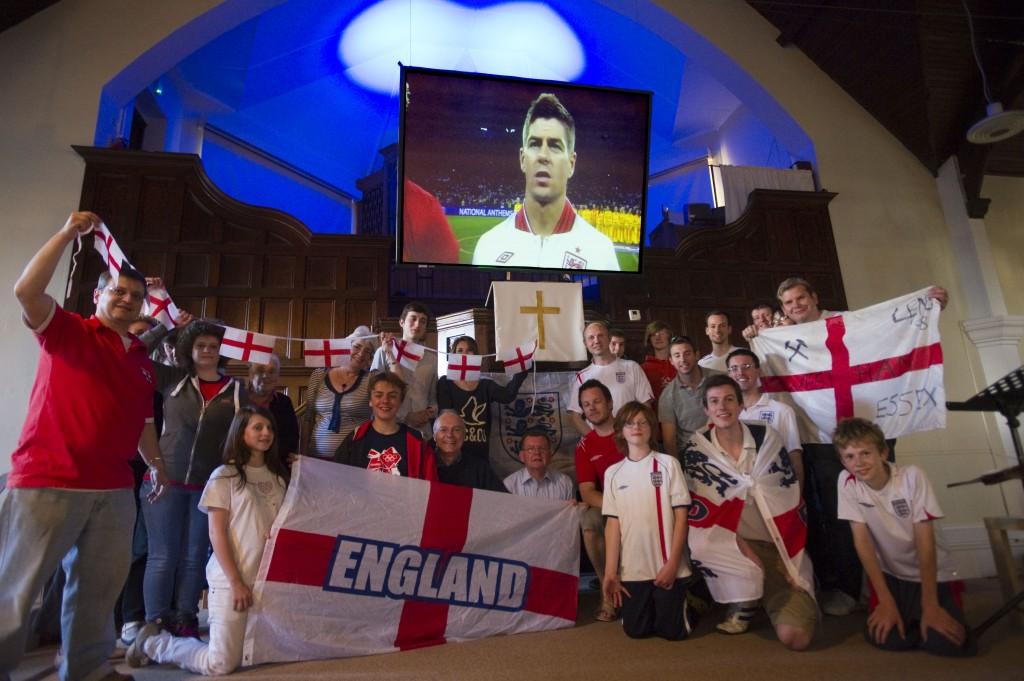 Euro 2012 England Matches shown at Leigh Road Baptist Church