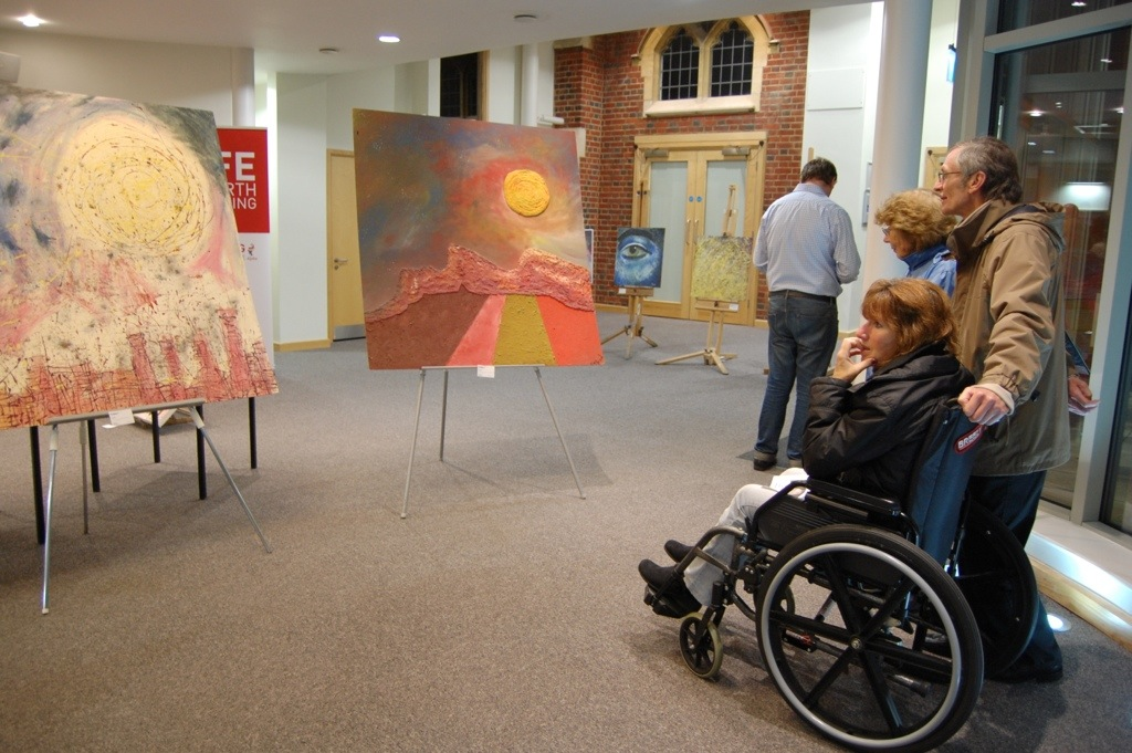 Visitors to Bradzart begin the journey of Brad's painting life.