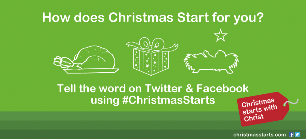 How does Christmas Start for you? #ChristmasStarts