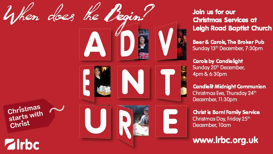 Christmas Services at Leigh Road Baptist Church