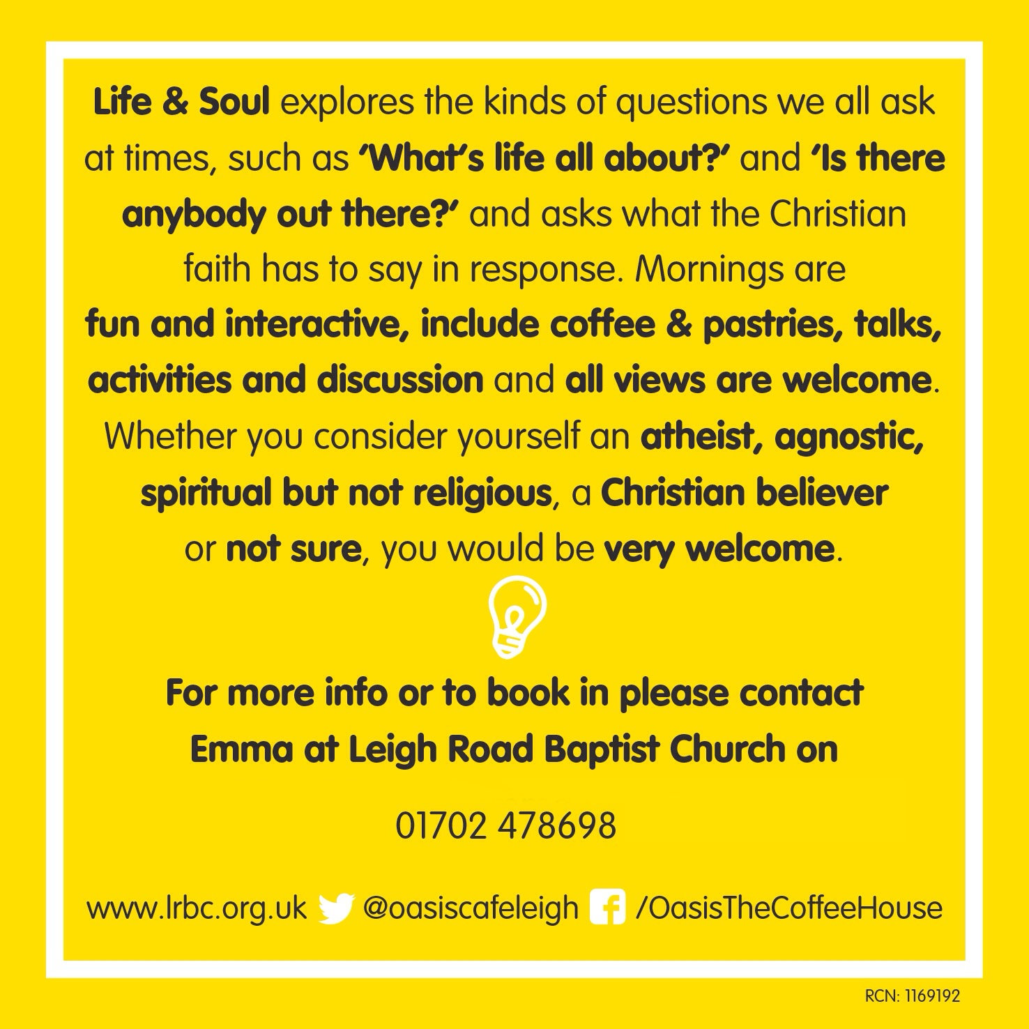 Life and Soul Course details.