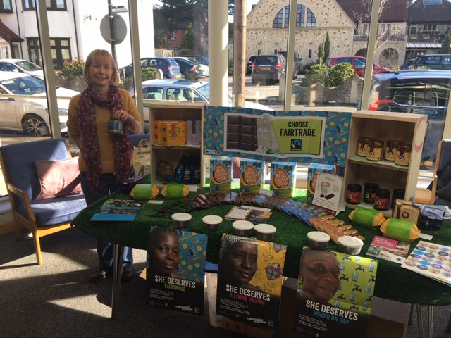 Gina and the Fairtrade stall