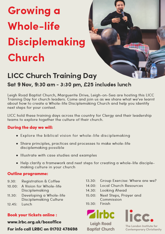 LICC Growing a Whole-life Disciplemaking Church poster